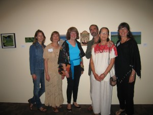 L-R Nancy Trissel, Elaine Duncan, Sonja Miremont, Jean Pierre Larochette, Yael Lurie and Christine Rivers